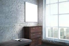 Moderne woonkamer met aanplakbord Stock Afbeelding