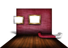 Moderne woonkamer met houten vloer Royalty-vrije Stock Foto's