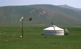 Moderne yurt, Mongolië Stock Foto