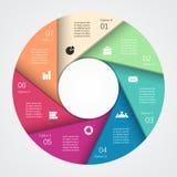 Moderne Zeigerinformationsgraphik für Geschäftsprojekt Lizenzfreies Stockbild