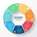 Moderne Zeigerinformationsgraphik für Geschäftsprojekt Stockfotos
