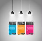 Moderne Zeitachseschablone mit flachem UI Lizenzfreie Stockbilder