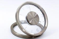 Moderne Zilveren Klok Stock Fotografie