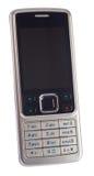 Moderne zilveren mobiele geïsoleerde telefoon, Royalty-vrije Stock Afbeelding