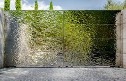 Moderne zilveren poorten Stock Fotografie