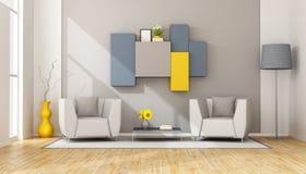 Moderne zitkamer royalty-vrije illustratie
