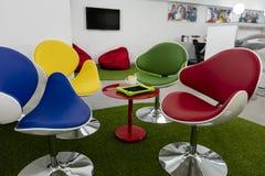 Moderne zitkamerruimte in een school of een bureau Royalty-vrije Stock Afbeelding