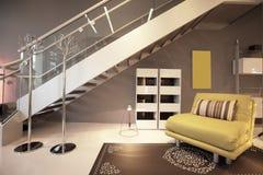 Moderne zolder Royalty-vrije Stock Afbeeldingen