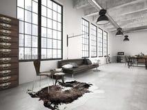Moderne zolder het 3d teruggeven Stock Fotografie