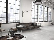 Moderne zolder het 3d teruggeven Stock Foto