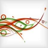 Moderne Zusammenfassung zeichnet minimalen Hintergrund Lizenzfreies Stockbild