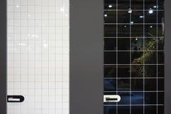 Moderne zwart-witte deuren Royalty-vrije Stock Foto