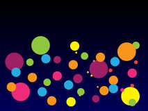 Moderner abstrakter Hintergrund mit bunten Punkten mit Steigung Stockbild