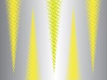 Moderner abstrakter Hintergrund mit Halbtoneffektdreiecken stock abbildung