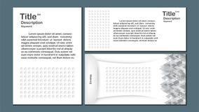 Moderner abstrakter Hintergrund mit Polygon und Kreis formen Templa Lizenzfreies Stockbild
