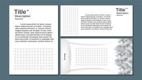 Moderner abstrakter Hintergrund mit Polygon und Kreis formen Templa Lizenzfreie Stockfotos