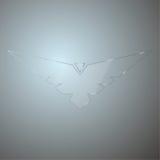 Moderner abstrakter Hintergrund mit transparentem Glas Stockfoto