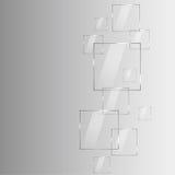 Moderner abstrakter Hintergrund mit transparenten Elementen und Platz f Lizenzfreies Stockfoto