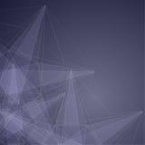 Moderner abstrakter Hintergrund mit transparenter Masche und glühendem L Lizenzfreies Stockfoto