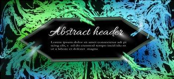 Moderner, abstrakter Hintergrund, Titelschablone für Websitetitel stock abbildung