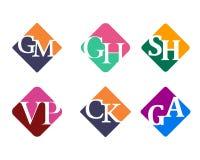 Moderner Anfangs-Logo Icon Template Lizenzfreies Stockbild