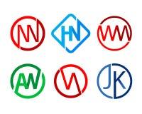 Moderner Anfangs-Logo Icon Template Stockbild