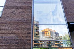 Moderner Architekturkomplex von Wohngebäuden Lizenzfreie Stockbilder