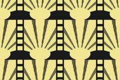 Moderner Art Deco-Hintergrund vektor abbildung