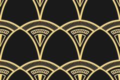 Moderner Art Deco-Hintergrund lizenzfreie abbildung