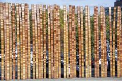 Moderner Art-Zaun Stockfotografie
