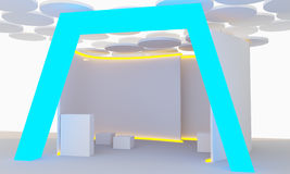 Moderner Ausstellungsstand Lizenzfreie Stockbilder