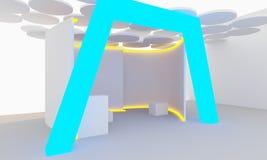 Moderner Ausstellungsstand Lizenzfreies Stockbild