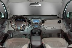Moderner Autoinnenraum Stockfotos