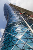 Moderner Bürogebäude Turm in Abu Dhabi UAE Stockbild