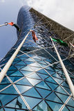 Moderner Bürogebäude Turm in Abu Dhabi UAE Lizenzfreie Stockbilder
