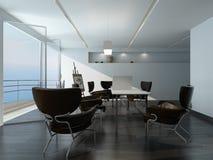 Moderner BüroKonferenzzimmerinnenraum Lizenzfreie Stockfotos