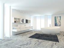 Moderner Badezimmer-Luxuxinnenraum stock abbildung