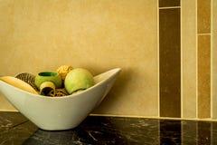 Moderner Badezimmer-Zähler Stockfoto