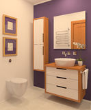 Moderner Badezimmerinnenraum. Stockbild