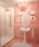 Moderner Badezimmerinnenraum. stock abbildung