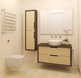 Moderner Badezimmerinnenraum. Lizenzfreies Stockfoto