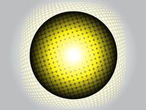 Moderner Ball oder Kugel mit Halbtoneffekt Lizenzfreie Stockbilder