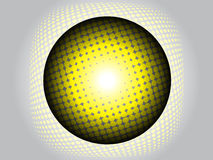 Moderner Ball oder Kugel mit Halbtoneffekt vektor abbildung