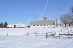 Moderner Bauernhof Stockfoto
