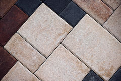 Moderner Beton, der Blockbeschaffenheit pflastert Stockfoto
