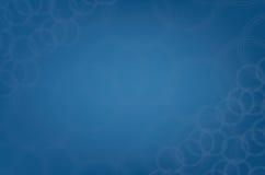 Moderner blauer kreisförmiger abstrakter Tröpfchen Musterhintergrund Stockbilder