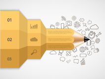 Moderner Bleistift des Vektors infographic Lizenzfreie Stockfotos