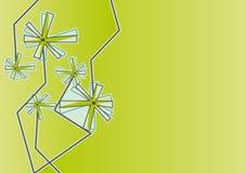 moderner Blumenhintergrund mit Dekorationen Lizenzfreie Stockfotos