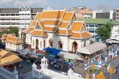 Moderner buddhistischer Tempel, hohe Winkelsicht Lizenzfreie Stockfotografie