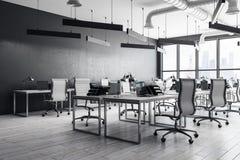 Moderner coworking Büroinnenraum stockfoto